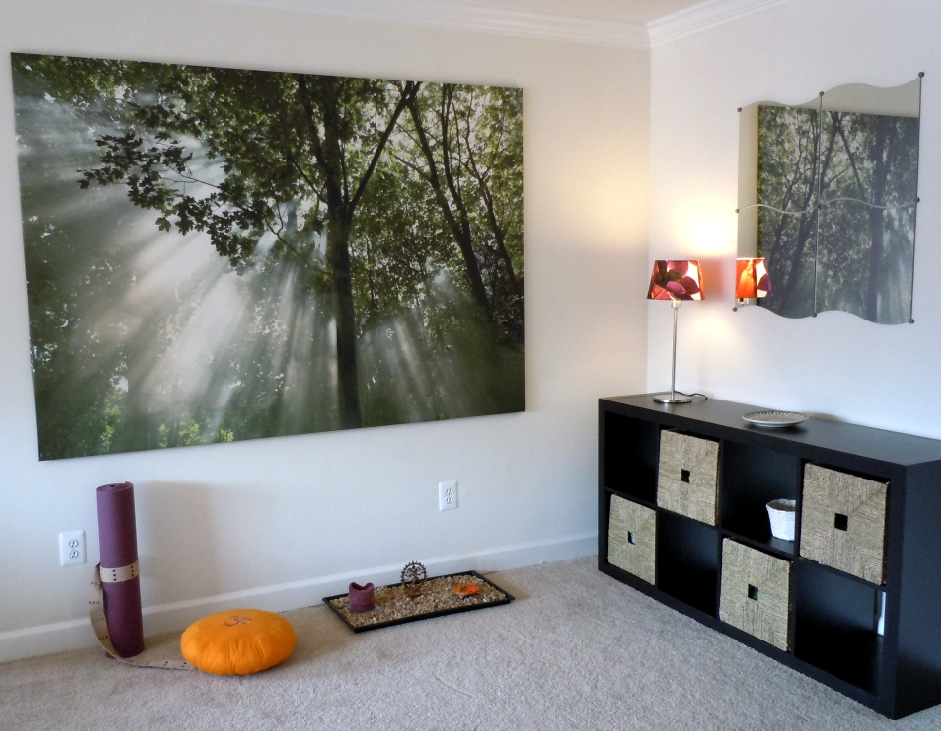 A client s new meditation space a place to call home my for Meditation living room